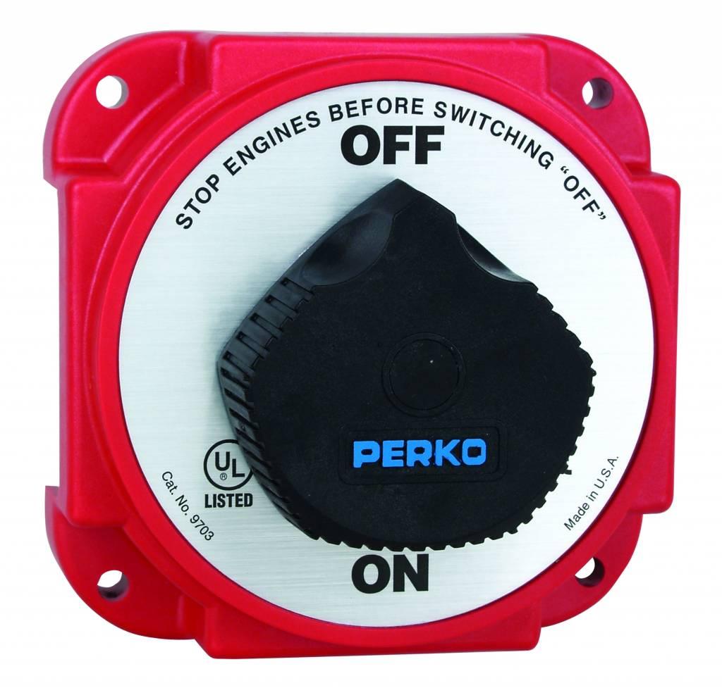 Perko Schwerer Batterie-Haupttrennschalter mit Lichtmaschinentrennung (AFD)