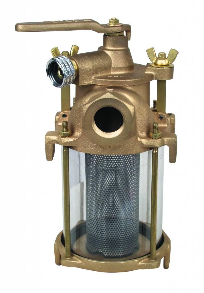 Perko Einlasswasserfilter mit Spülanschluss