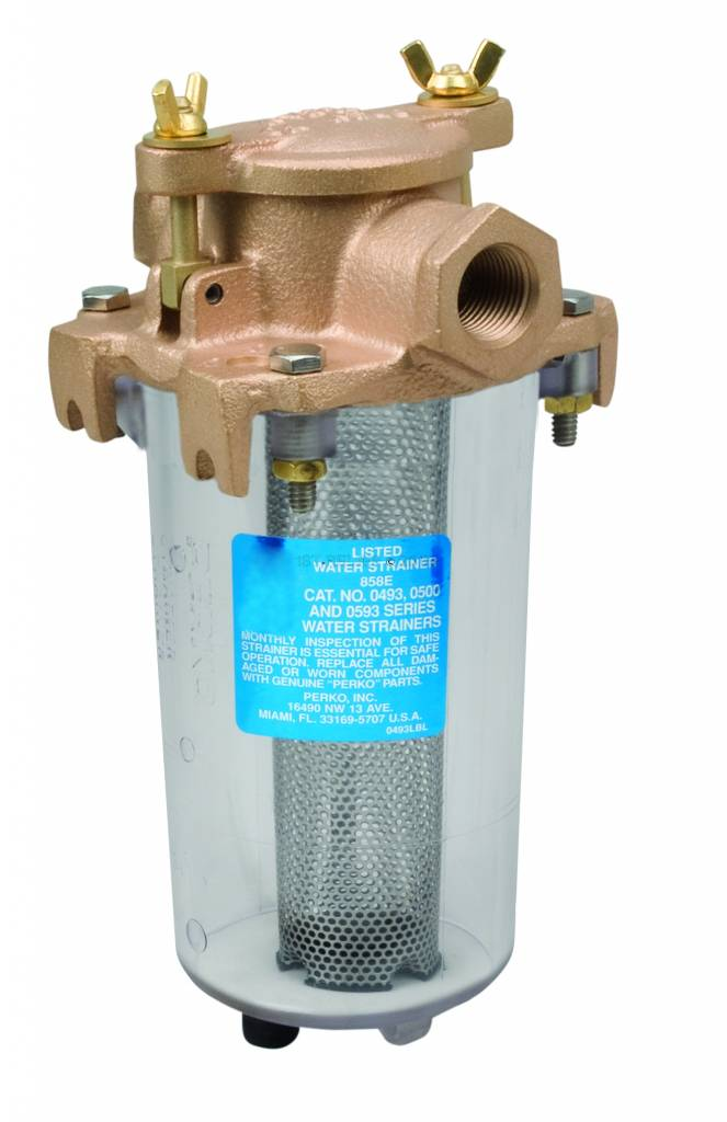 Perko Leightweight Intake Water Strainer with Clear Body