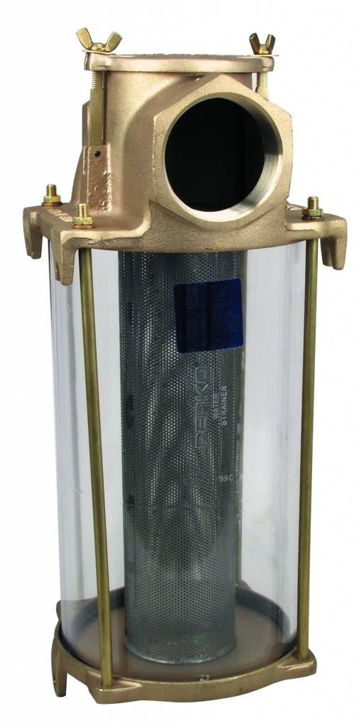 Perko Großer Einlasswasserfilter mit Bronzegehäuse und Edelstahl-Filterkorb
