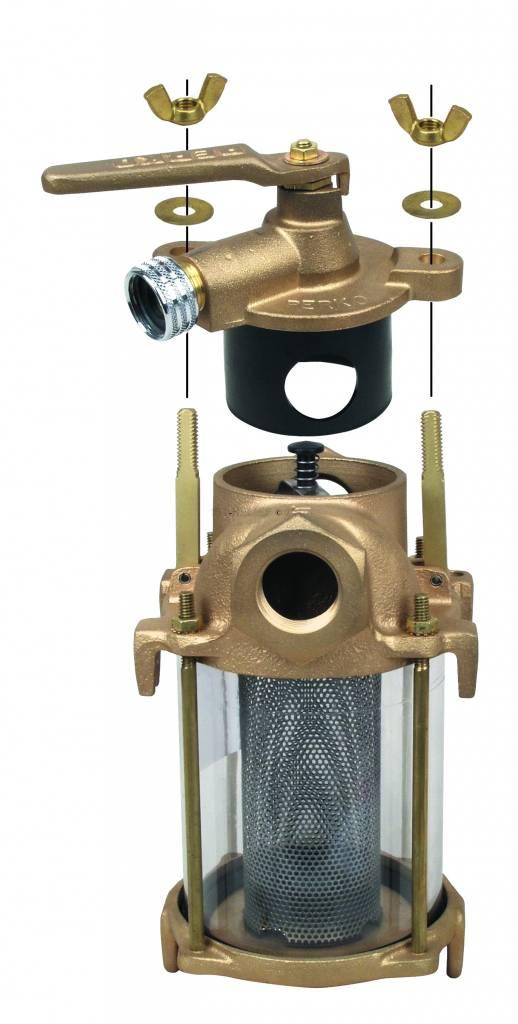 Perko Agua dulce Flushing Colador - Kit de juntas de repuesto (1 tapa de la Cabeza y 2 Cilindro Juntas)