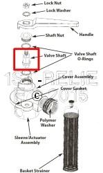 Perko Einlasswasserfilter mit Spülanschluss - Ersatzventilschaft