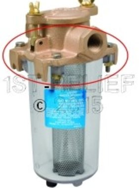 Perko Leightweight filtro de agua de admisión - Fundición Top repuesto