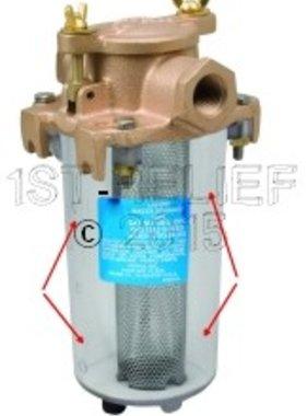Perko Leightweight filtro de agua de admisión - repuesto cuerpo del cilindro transparente