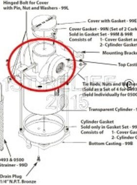Perko Intake Water Strainer - Spare Top Casting