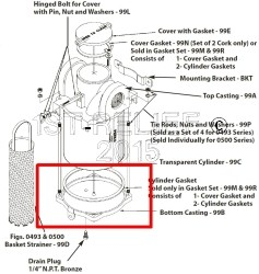 Perko Intake Water Strainer - Spare Bottom Casting