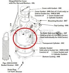 Perko Einlasswasserfilter - Transparenter Zylinder