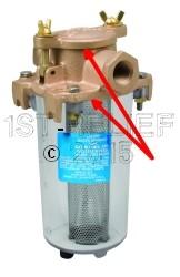 Perko Kompakter Einlasswasserfilter - Ersatzdichtungssatz (1 Deckeldichtung und 1 Zylinderdichtung)