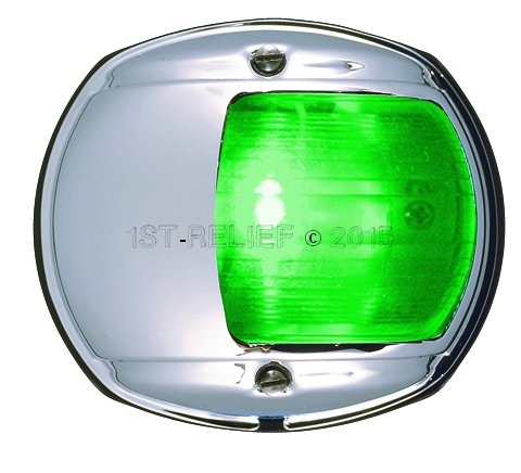 Perko Luz de navegación LED para el montaje vertical - Starboard (Verde)