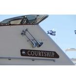 Kahlenberg D-0A Ship Horn, two Trumpets, White Powder Coat Finish or Chrome Finish