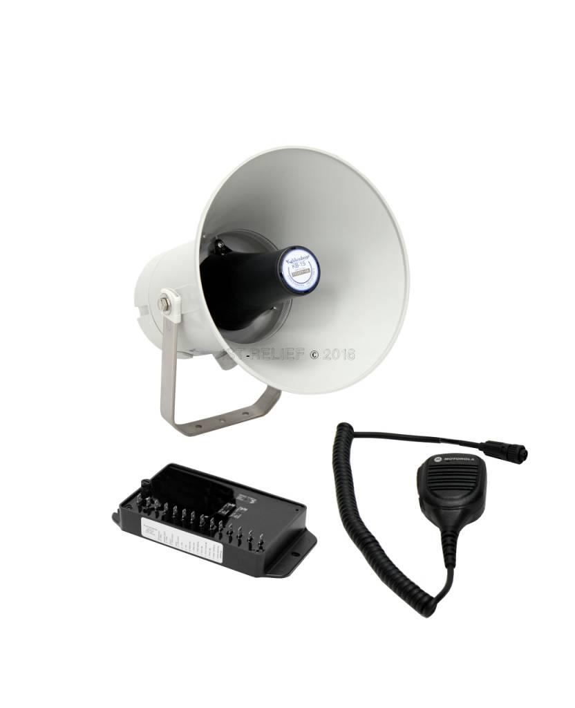 Kahlenberg KB-15x electronic Ship Horn / Voice Hailer in gray or white finish, 12-24 VDC (options: Bluetooth, Talkback)