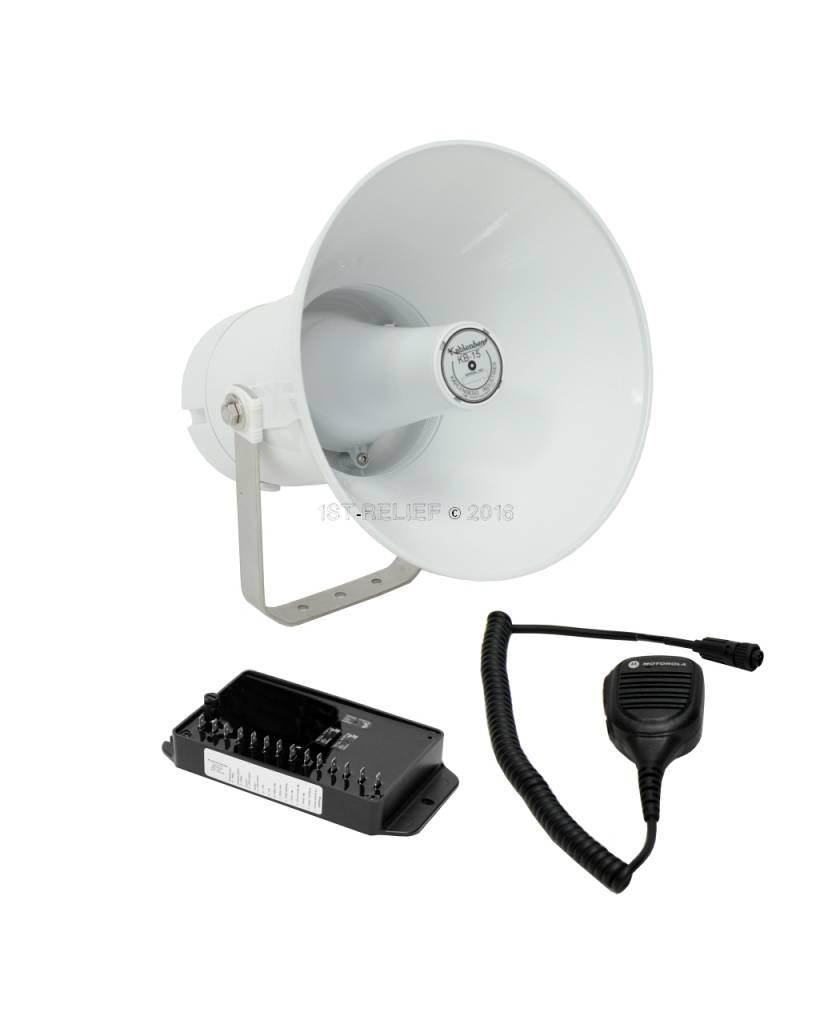 Kahlenberg KB-15x elektronisches Schiffshorn / Megafon in grau oder weiß, 12-24 VDC (Optionen: Bluetooth, Talkback)