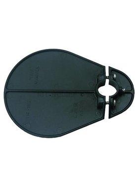 Perko Glare schild voor pole lichten (zwart Polymer)