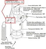 Perko Einlasswasserfilter - Ersatzbolzen für die Abdeckung mit Stift, Mutter und Unterlegscheiben
