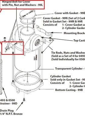 Perko Einlasswasserfilter - Ersatzbolzen für die Abdeckung