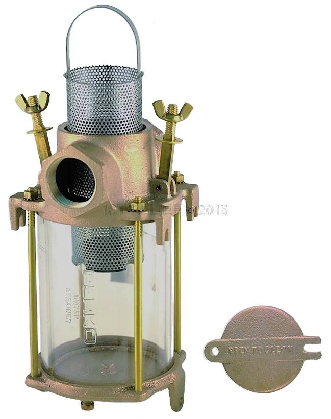 Perko Large Intake Water Strainer - Spare Hinged Bolt for Cover with Pin, Nut and Washers