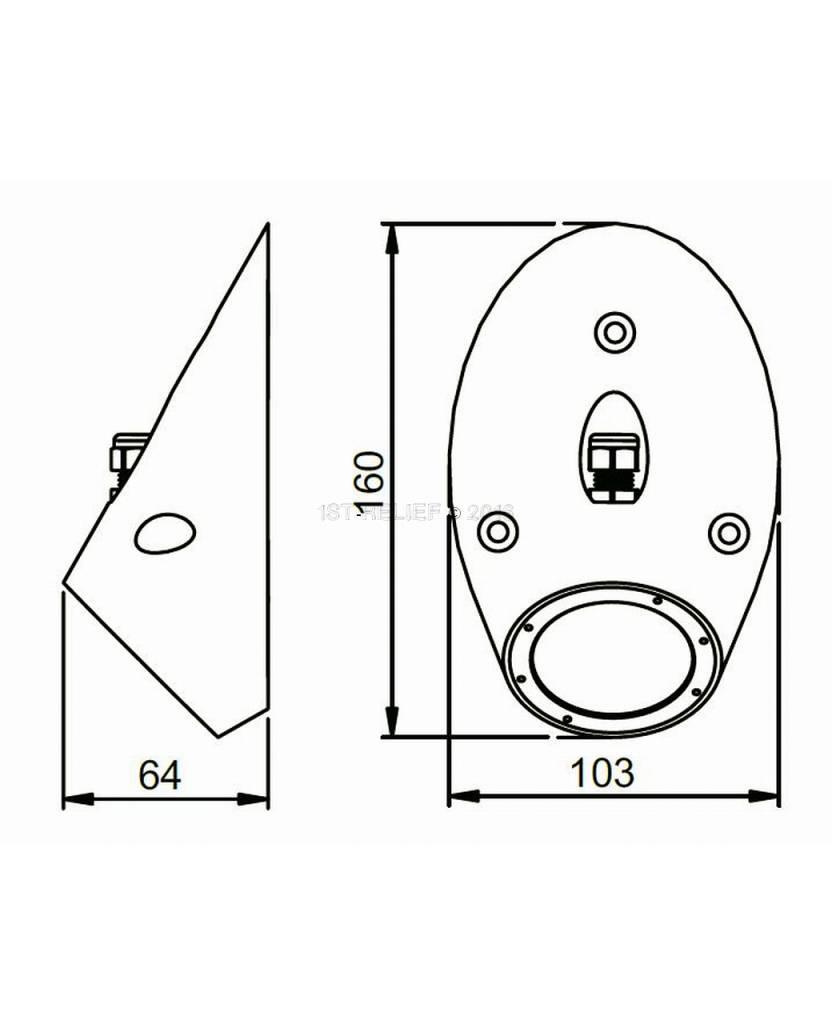 Astel Conus MST0680 highpower LED underwater light designed as sloped truncated cone