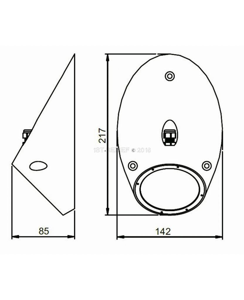 Astel Conus MST18240 highpower LED underwater light designed as sloped truncated cone