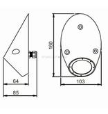 Astel Conus MSR0680 highpower LED underwater light designed as sloped truncated cone