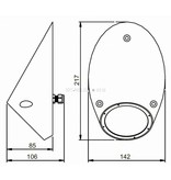 Astel Conus MSR18240 highpower LED underwater light designed as sloped truncated cone