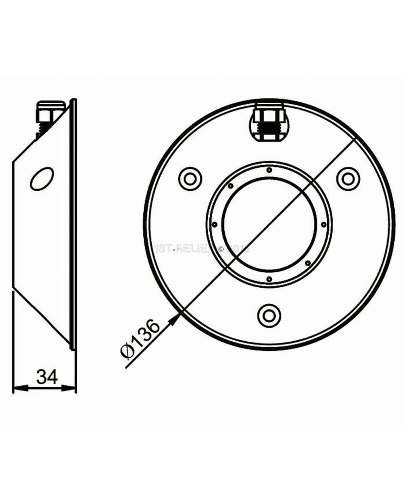 Astel Convex MST0680 LED-Unterwasserbeleuchtung für Standard-Oberfläche am Heck des Rumpfes