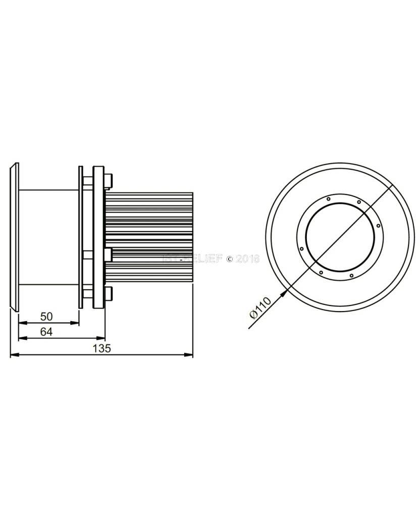 Astel Plaque MFM0680 LED underwater light for flush-mount installation