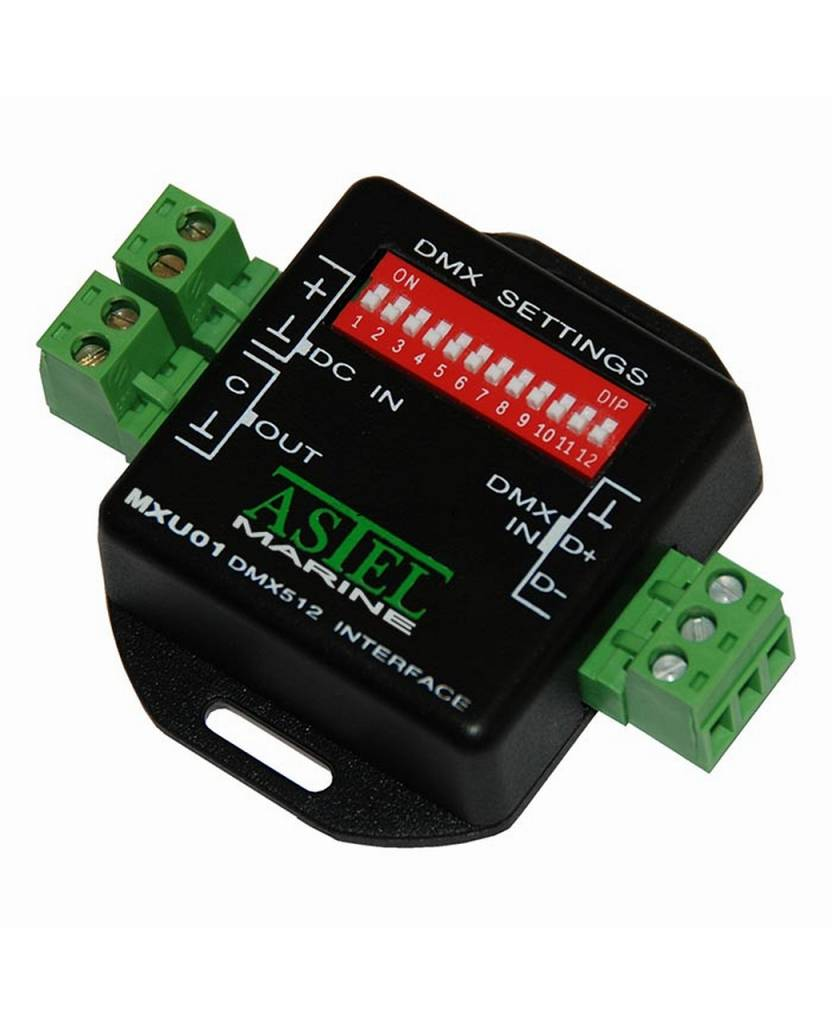 Astel DMX512 Interfaz MXU01 sistema de control de iluminación mediante el uso de la red de comunicación digital DMX512 estándar.
