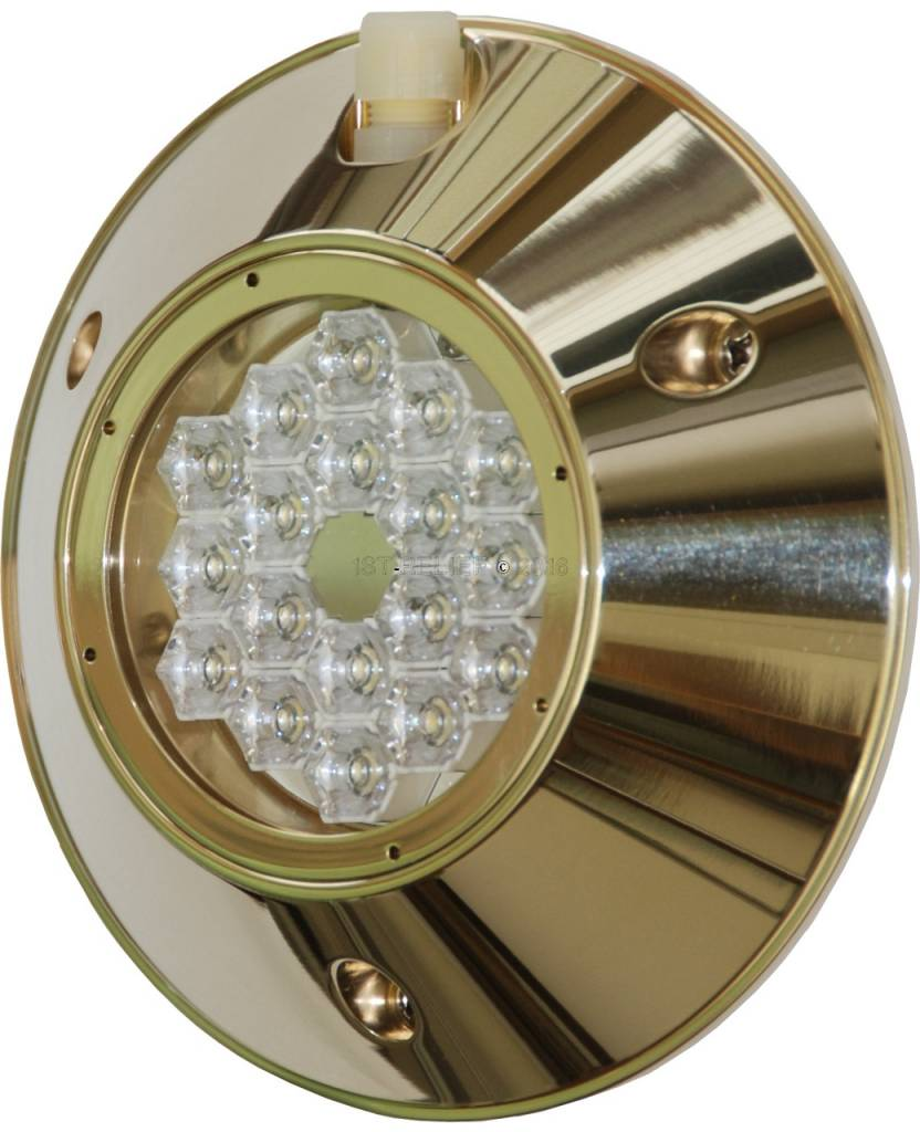 Astel MST0680 convexa LED de luz bajo el agua superficial estándar en la popa del casco