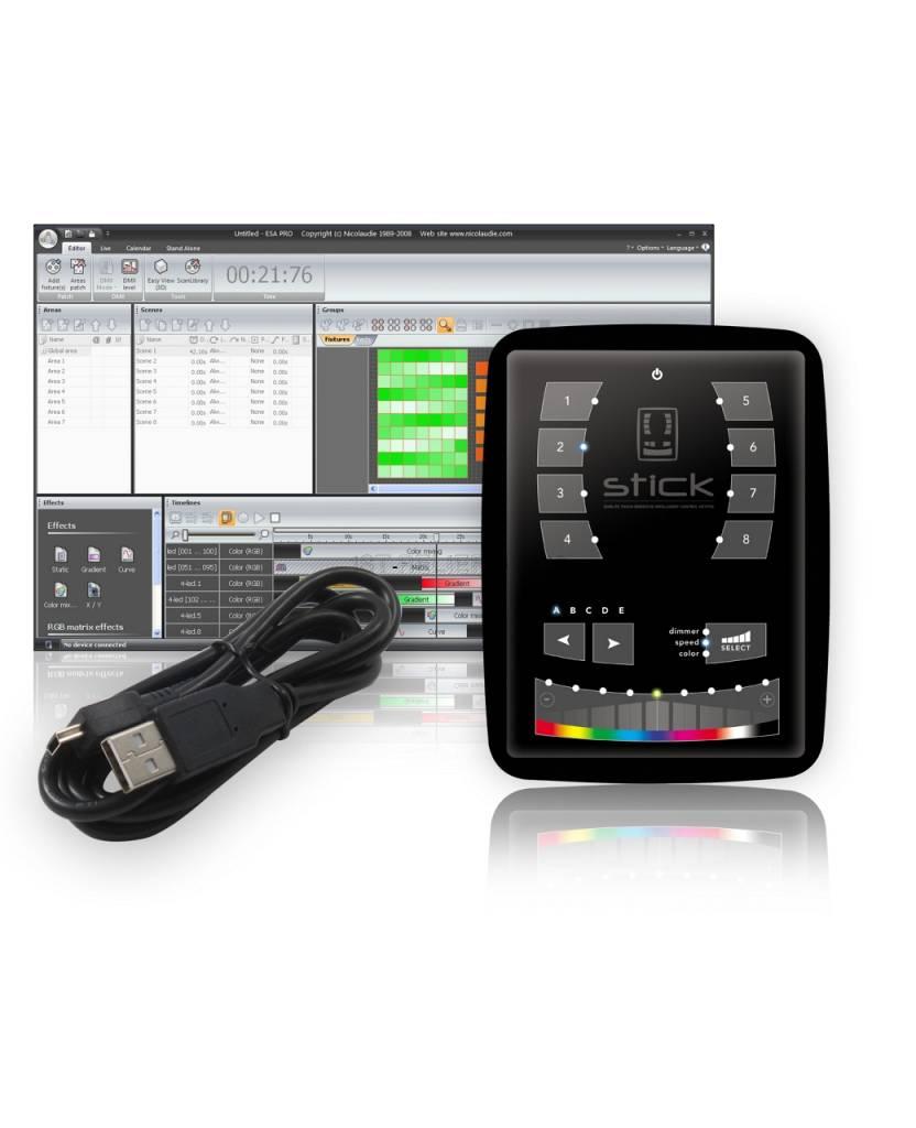 Nicolaudie DMX512-Controller STICK-KE1 - die berührungsempfindliche und intelligente Bedientastatur