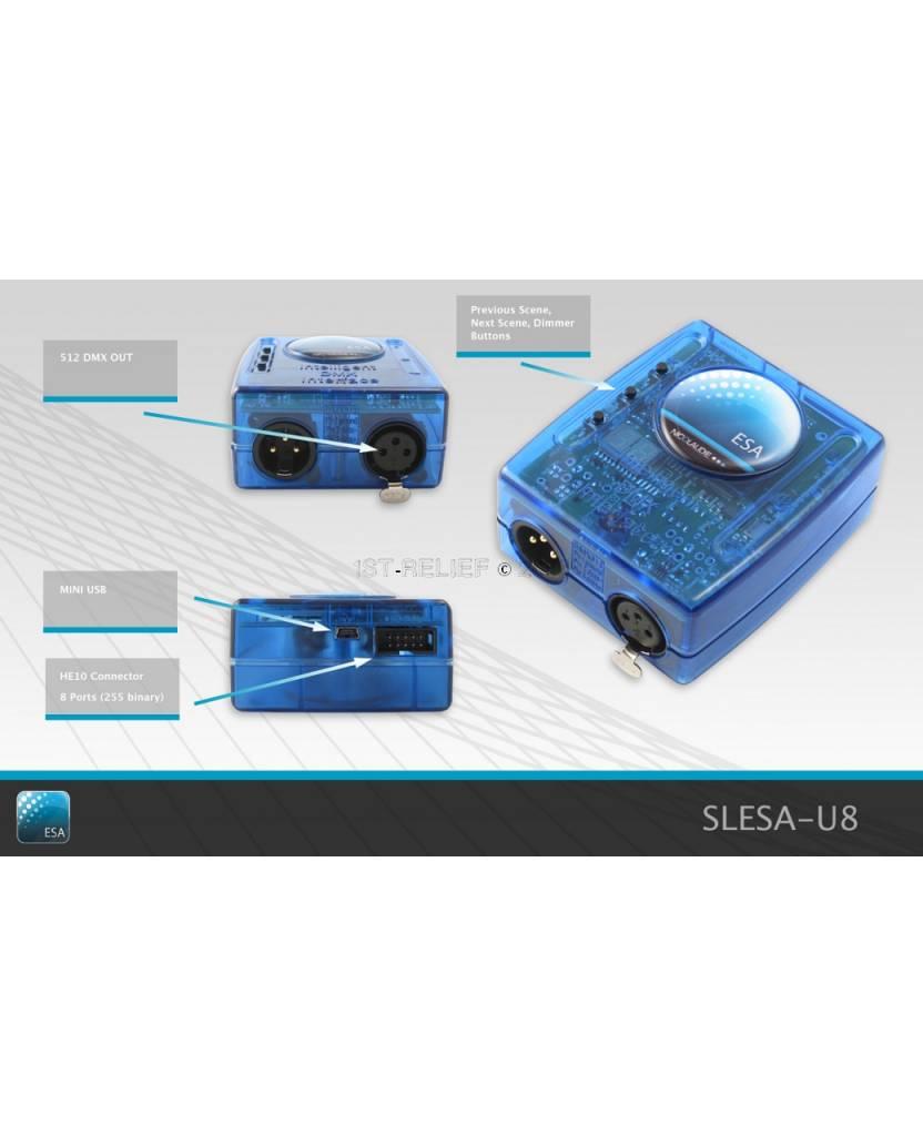 Nicolaudie DMX512-Controller SLESA-U8 - Standalone-Controller