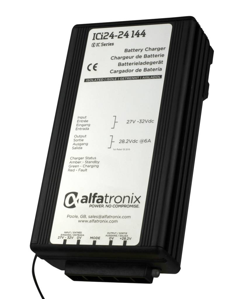 Alfatronix 12-24 VDC Intelligente Lader voor Batterijen (12-24VDC)