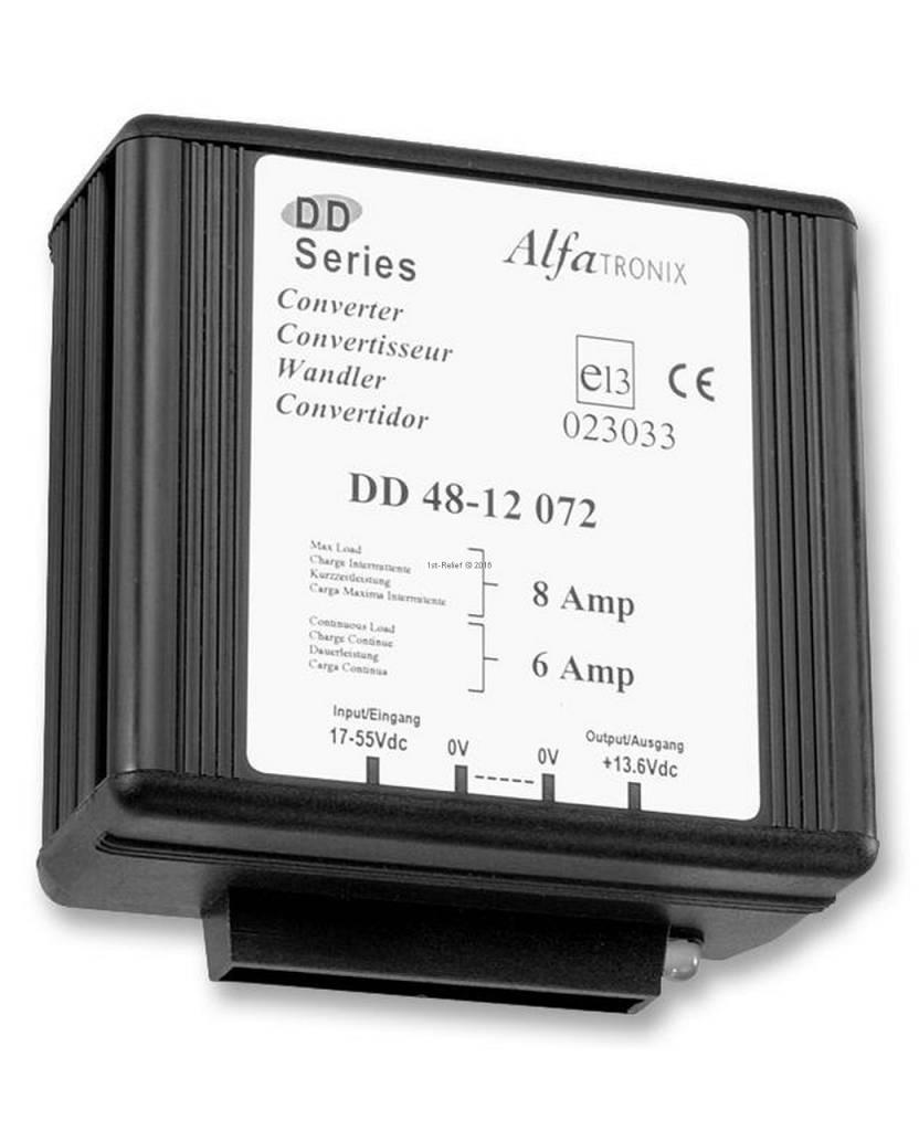 Alfatronix 48 VDC to 12 VDC Power Converter non-isolated