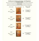 Perko Cabindoor - Flush Cup Rim Latch Set with lever handle and cup handle, door-latch knob