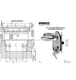 Perko Cabindoor - Insteekslot set met handgrepen, sleutel afsluitbaar