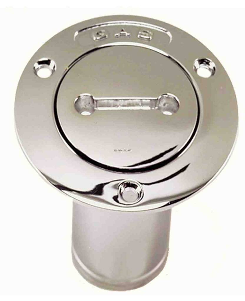 Perko Gasoline- , Water-, Diesel- or Waste- filler pipe with O-Ring for 1 - 1 / 2 inch Hose; Non-Vented