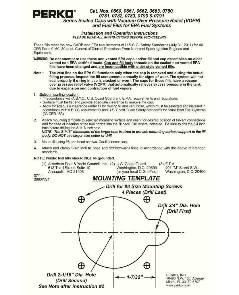 Perko Benzin-Einfüllstutzen mit Ratschen-Dichtung, farbcodierte metallischen Inlay und Vakuumentlastung / Überdruckentlastung (VOPR)