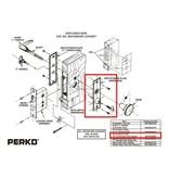 Perko Kabinen Türbeschlag - Ersatzfrontschild mit Schlüssel für Einsteckschloss Set