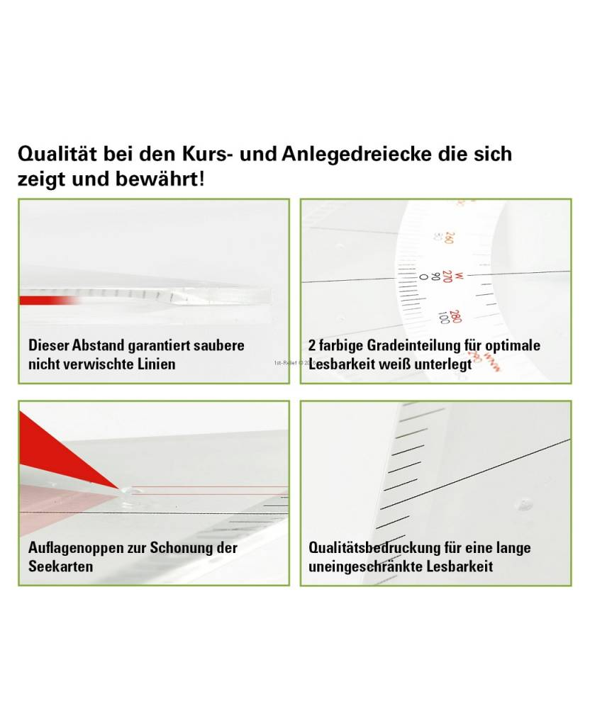 ECOBRA Parallel - ruler; Length 45.7 cm (18 inches)