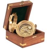 ECOBRA Nostalgischer Peilspiegelkompass, Messing