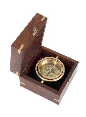 ECOBRA Nostalgique Bureau Maritime Compass, Brass
