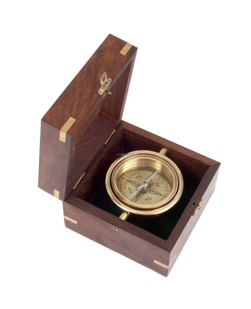 ECOBRA Nostalgische Maritime Bureau Compass, Brass