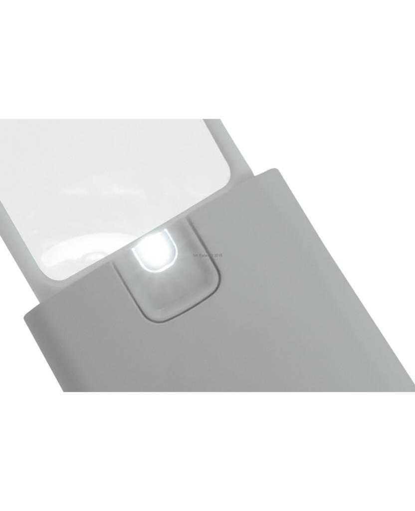 ECOBRA Pocket LED Retractable loupe, lens 45 x 38 mm, 3 x vergroting