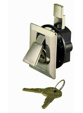 Perko Verchroomd Flush Slot met 2 sleutels