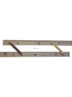 ECOBRA Parallèle - règle; 45,7 cm (18 pouces)