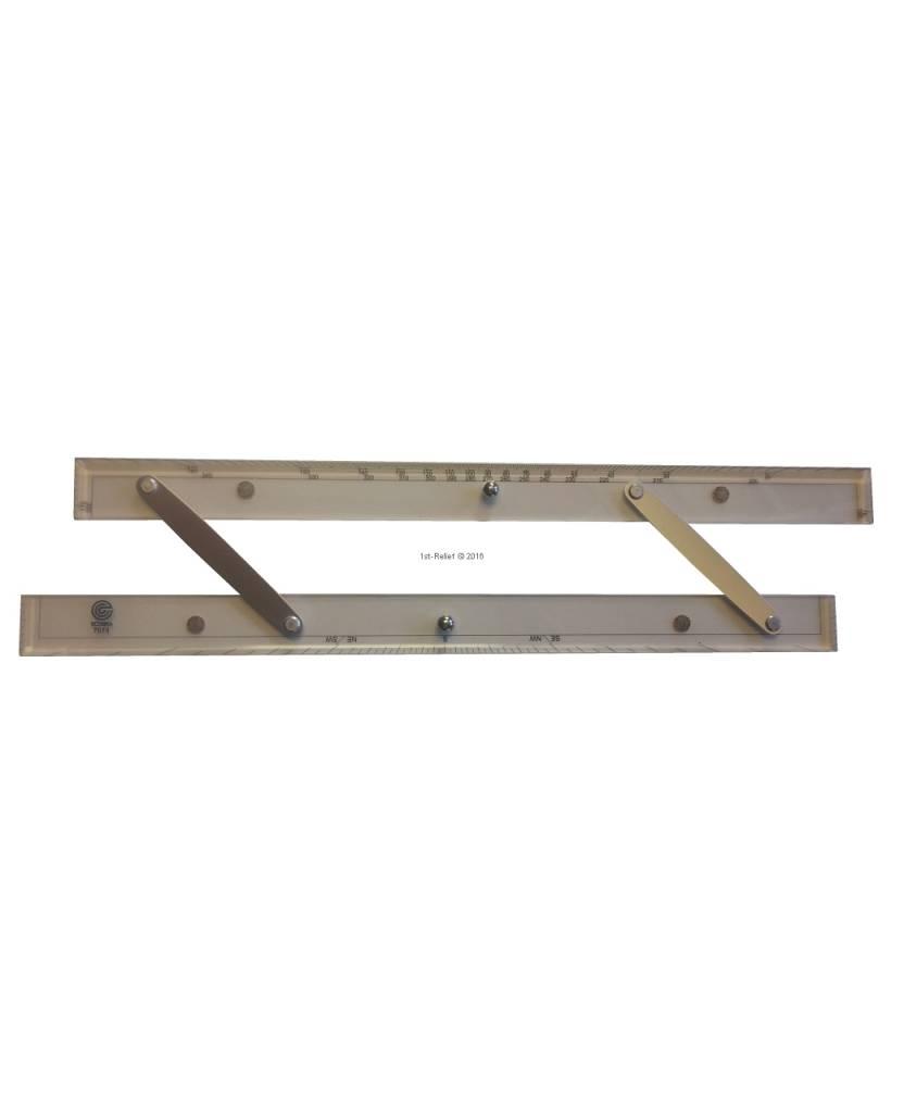 ECOBRA Parallel - liniaal; Lengte 45,7 cm (18 inch)