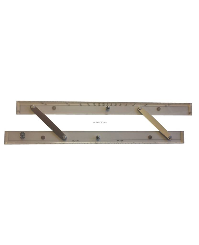 ECOBRA Parallel - ruler; Length 30.5 cm (12 inches)