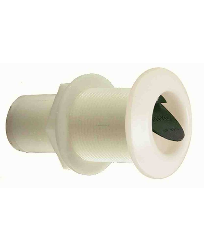 Perko Thru-Hull Scupper voor montage via Transom (Inbouwde Soft Black Flapper)
