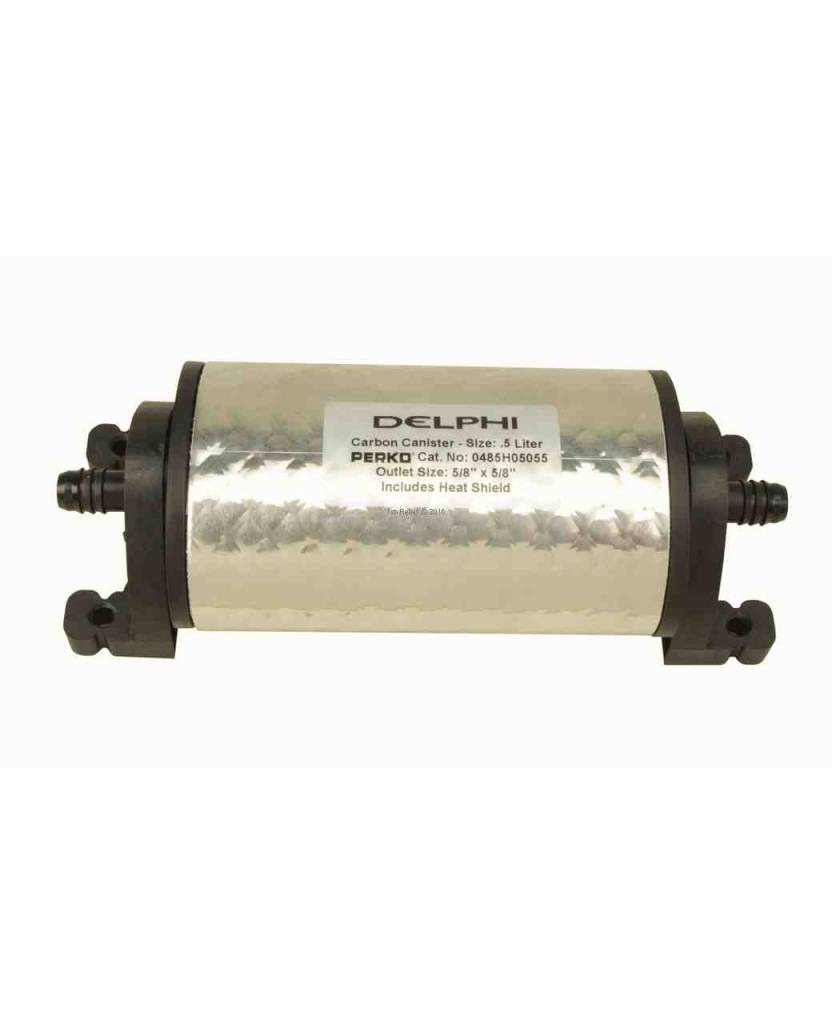 Perko Delphi Carbon Canister (size from 0.5 liter to 4 liters; with or without heat shield)