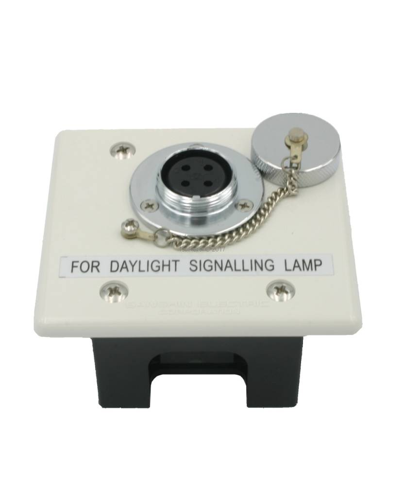 Sanshin Flush mounted connection receptacle for ALDIS lamp (non water tight, IP20)