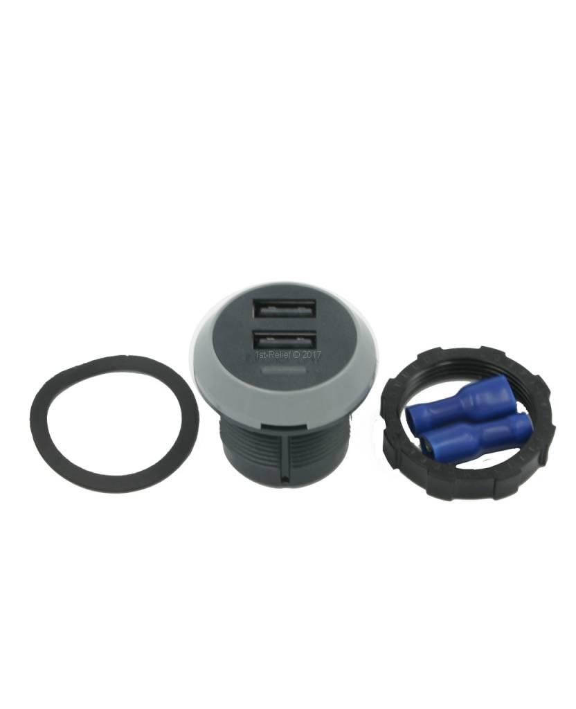 Alfatronix 12/24 VDC USB Ladegerät für Smartphones an Bord einer Yacht